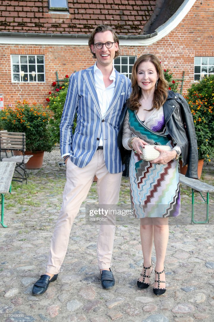 BASTHORST, GERMANY - JUNE 15 Eike Knueppel and Vicky Leandros during the BMW Polo Cup Gut Bast...jpg
