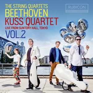 Kuss Quartet - Beethoven The String Quartets, Live from Suntory Hall, Tokyo, Vol. 2 (2020).jpg